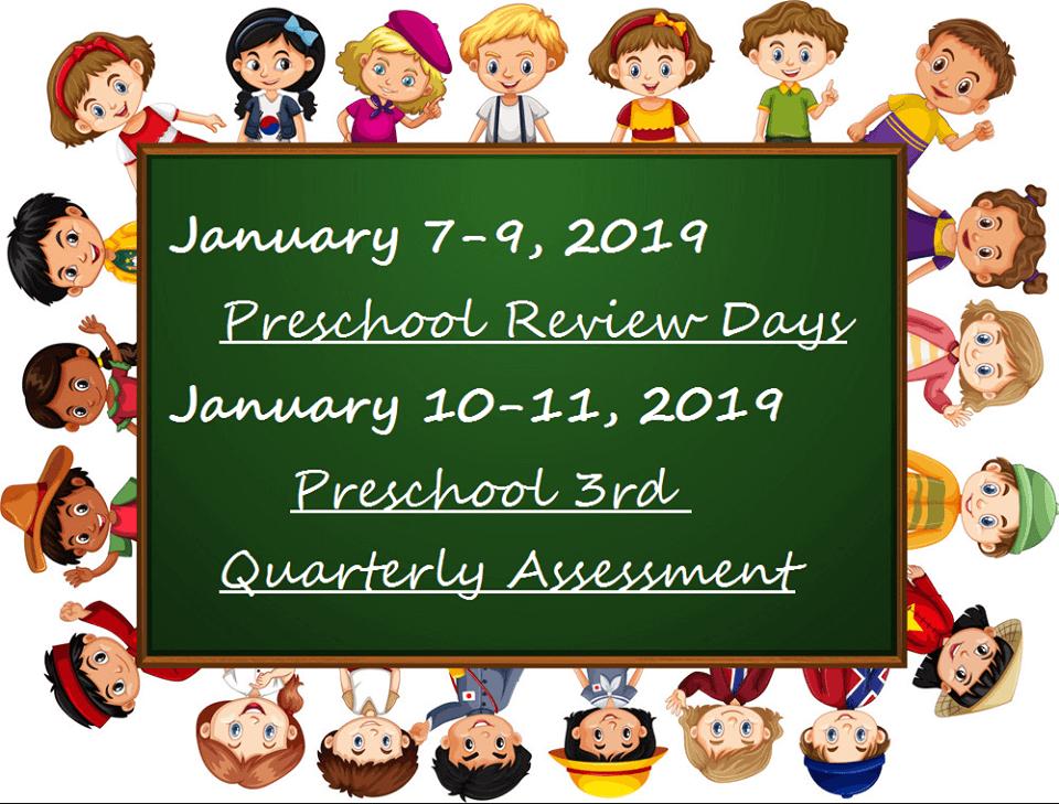 Preschoolers 3rd Quarterly Assessment