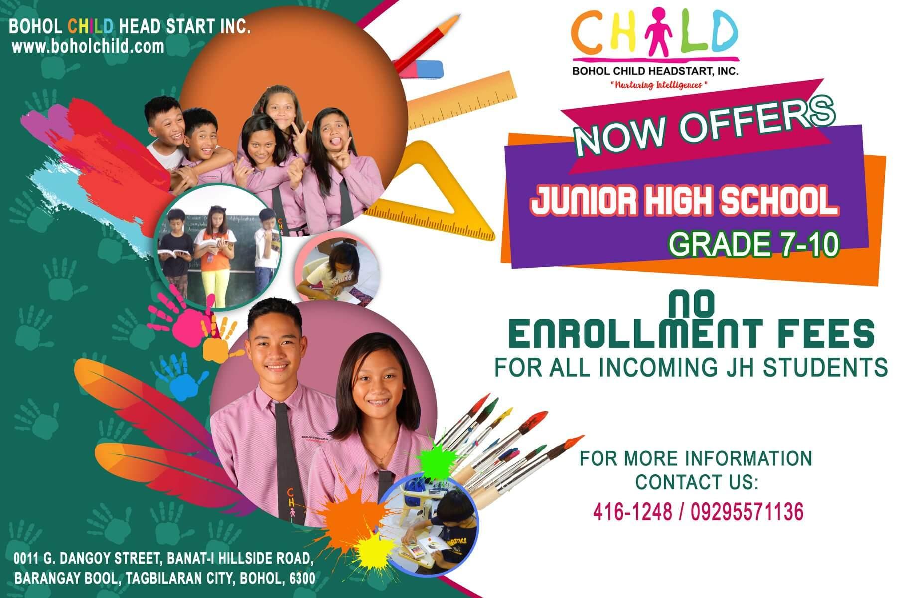 BCHS offers Junior High School (Grades 7-10)