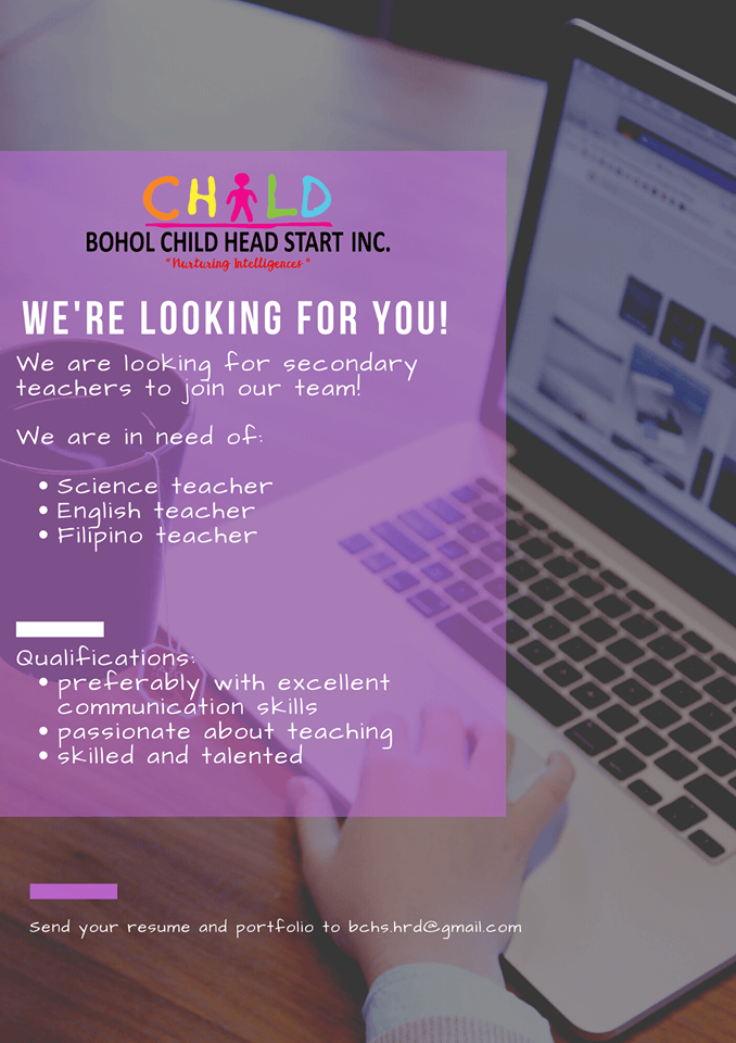 We're Looking For You!